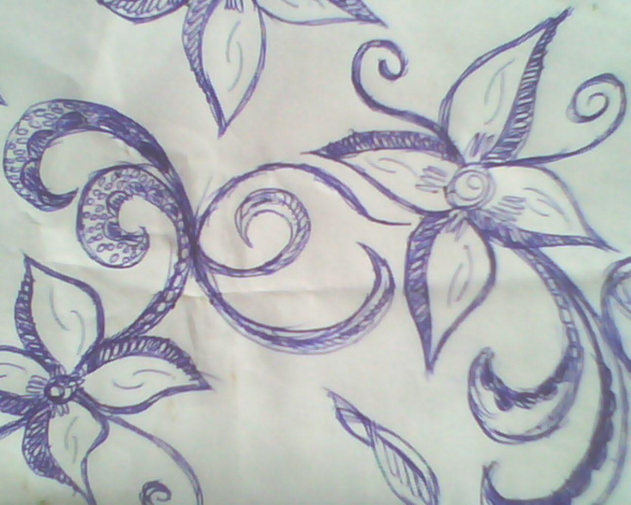 Gambar Sketsa Batik Mudah Di Gambar Sobsketsa