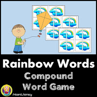 Rainbow Words CompoundWord Game – Students match up rainbow puzzle pieces to build compound words!