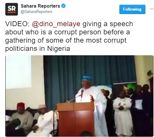 WATCH VIDEO..Nigerians React As Dino Melaye Launches Book On Corruption, Invites Patience Jonathan, Others