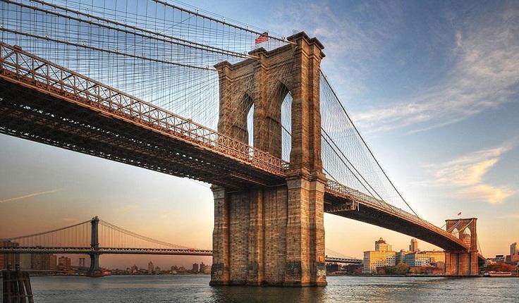 Brooklyn Bridge, Jembatan Suspensi Tertua di Amerika Serikat