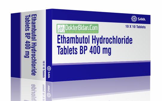 Ethambutol Hydrochloride Obat TBC Paru Paru - Peringatan Dosis Pemakaian Dan Efek Sampingnya