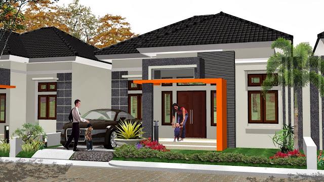 Desain Rumah Minimalis Bertaman