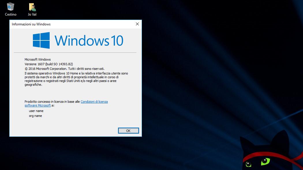Changelog completo aggiornamenti Windows 10 Build 14393.82-HTNovo