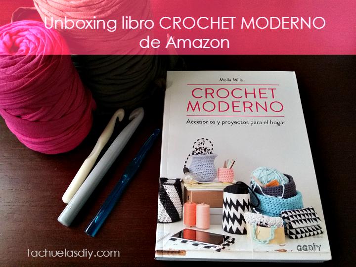 Vídeo de la llegada del pedido que he echo en amazon ,el libro de crochet moderno que incluye decoración de hogar,accesorios y máss