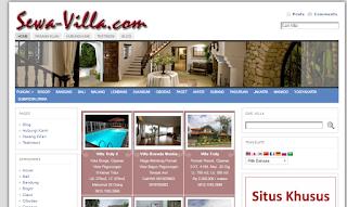 web sewa villa