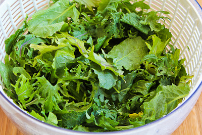 Baby Kale Greek Salad  found on KalynsKitchen.com