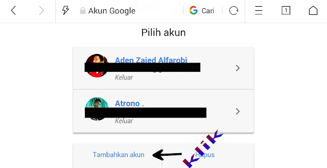 cara masuk akun google
