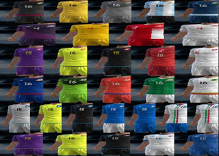 Kits: Argentina, Canada, Czech Republic, Italy, Mexico, Slovakia, Pes 2013
