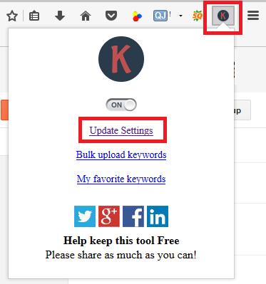lalukan update settings pada plugin