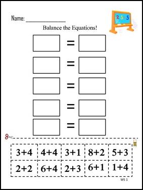 Number Names Worksheets » Algebra Balance Scales Worksheets - Free ...