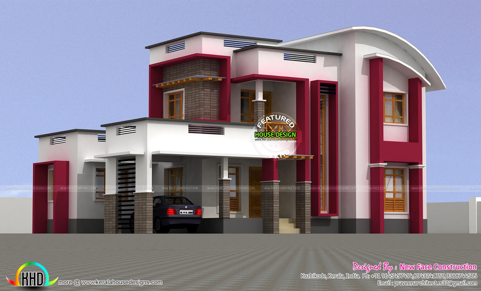 1900 sq ft curved roof mix home kerala home design and for 1900 sq ft house plans kerala