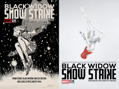 Snow Strike Black Widow 1/6 Scale Collectible Marvel Figure by Ashley Wood x ThreeA