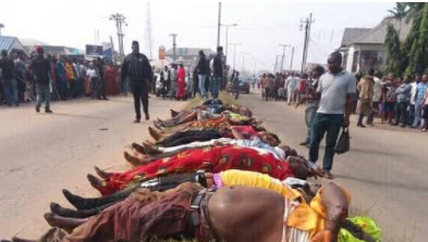 Gunmen killed 20 persons that just returned from cross over service in Rivers state on 1st January