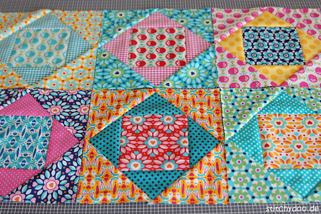 stitchydoo: Kunterbuntes Frühlings-Patchwork | Economy Block Quilt to be...