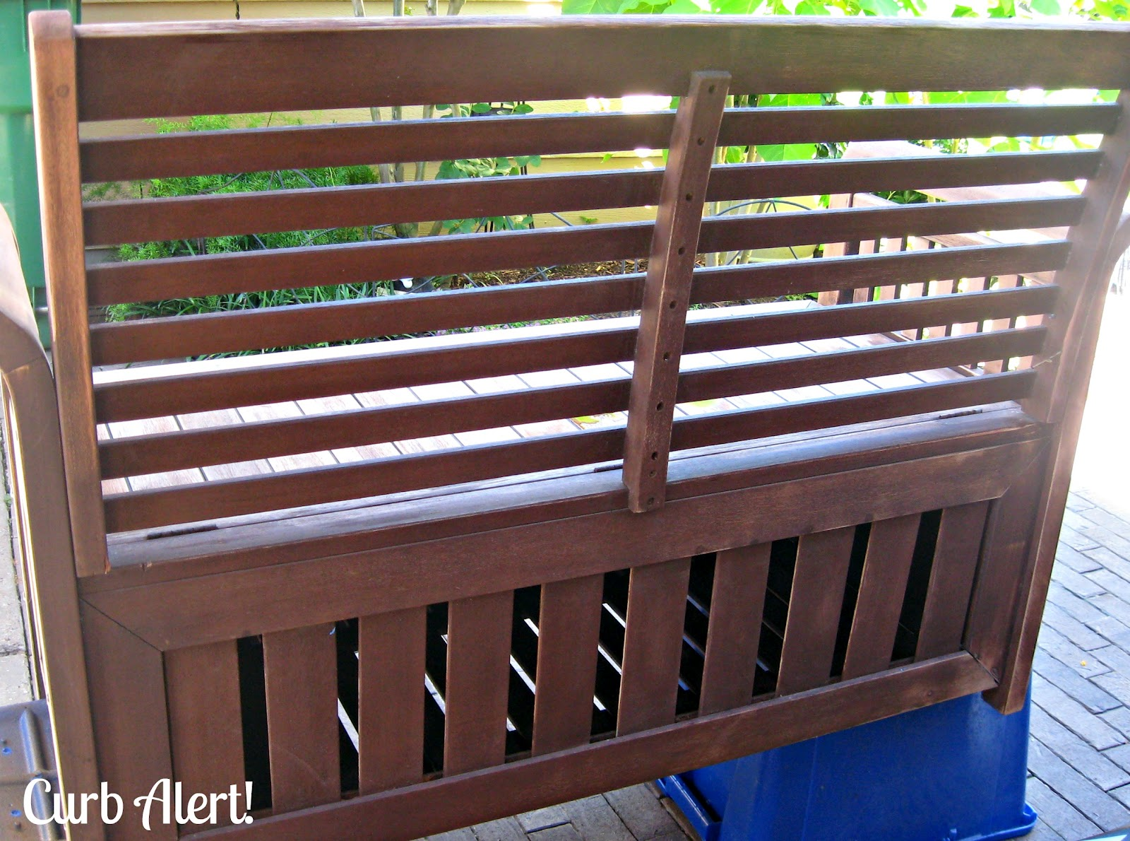 Refinishing Outdoor Furniture Garden Bench Curb Alert
