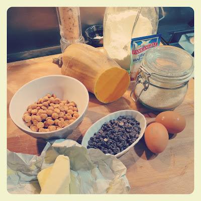 ingredienti torta zucca e gocce di cioccolato