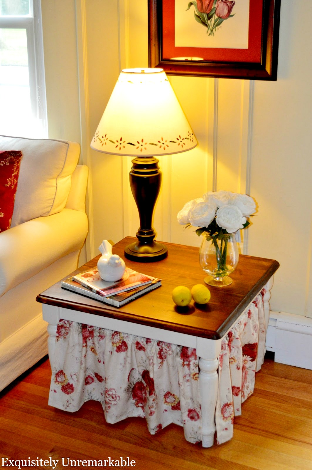 Skirted Side Table DIY