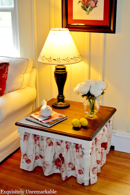 Skirted Side Table in the living room