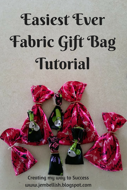 Easiest Ever Fabric Gift Bag