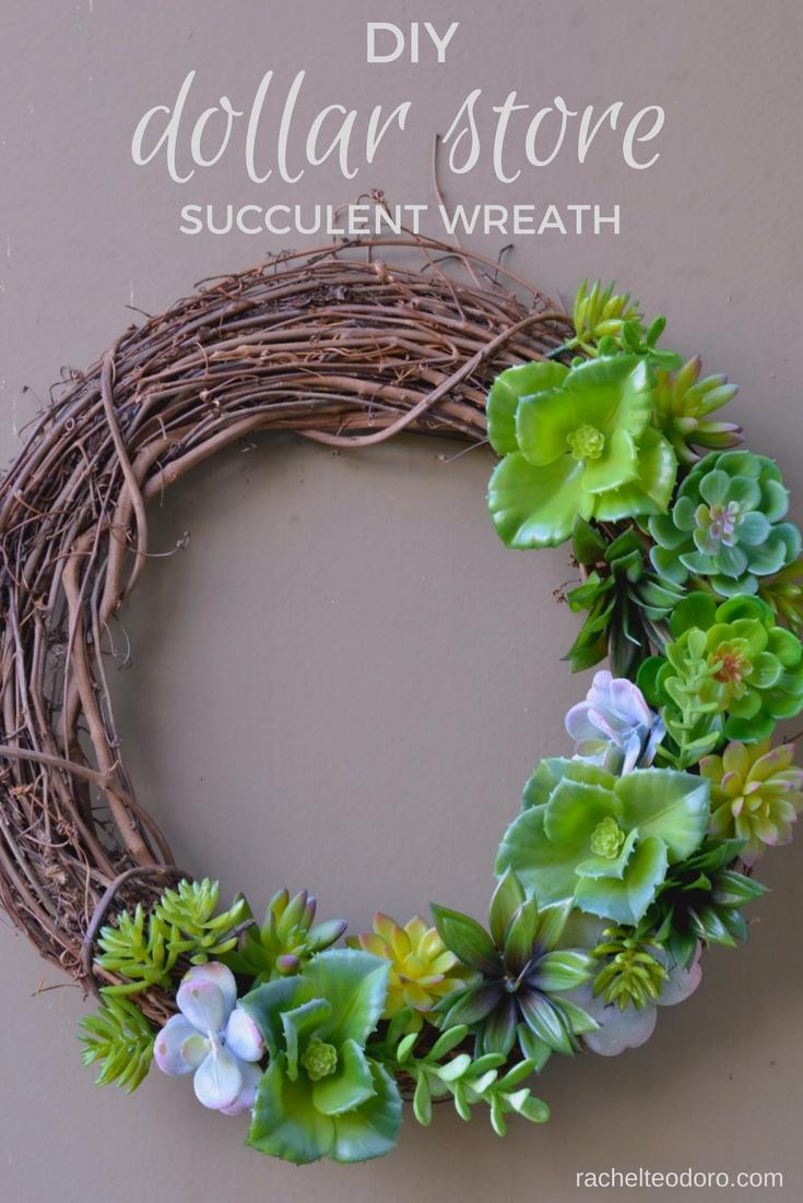 Dollar store succulent wreath tutorial rachel teodoro for Craft paper dollar tree