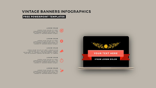 Vintage Banners Infographic Free PowerPoint Template Slide 14