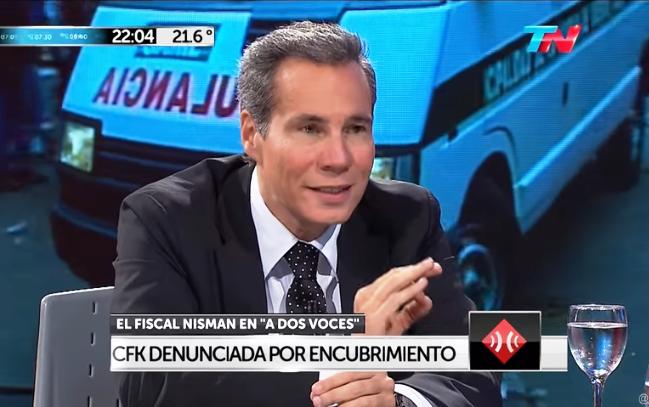 El fiscal Nisman en la entrevistar de enero de 2015 poco antes de su extraña muerte / CAPTURA YOUTUBE