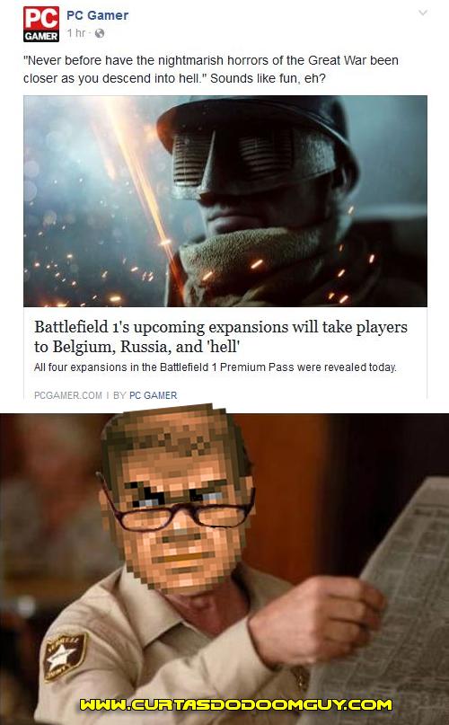 """Battlefield 1 leva o jogador ao """"inferno"""""""