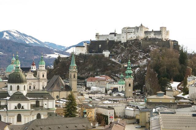 Panorama dalla Collina del Mönchsberg-Salisburgo
