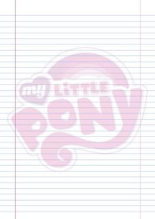 Folha Papel Pautado Logo My Little Poney em PDF para imprimir na folha A4