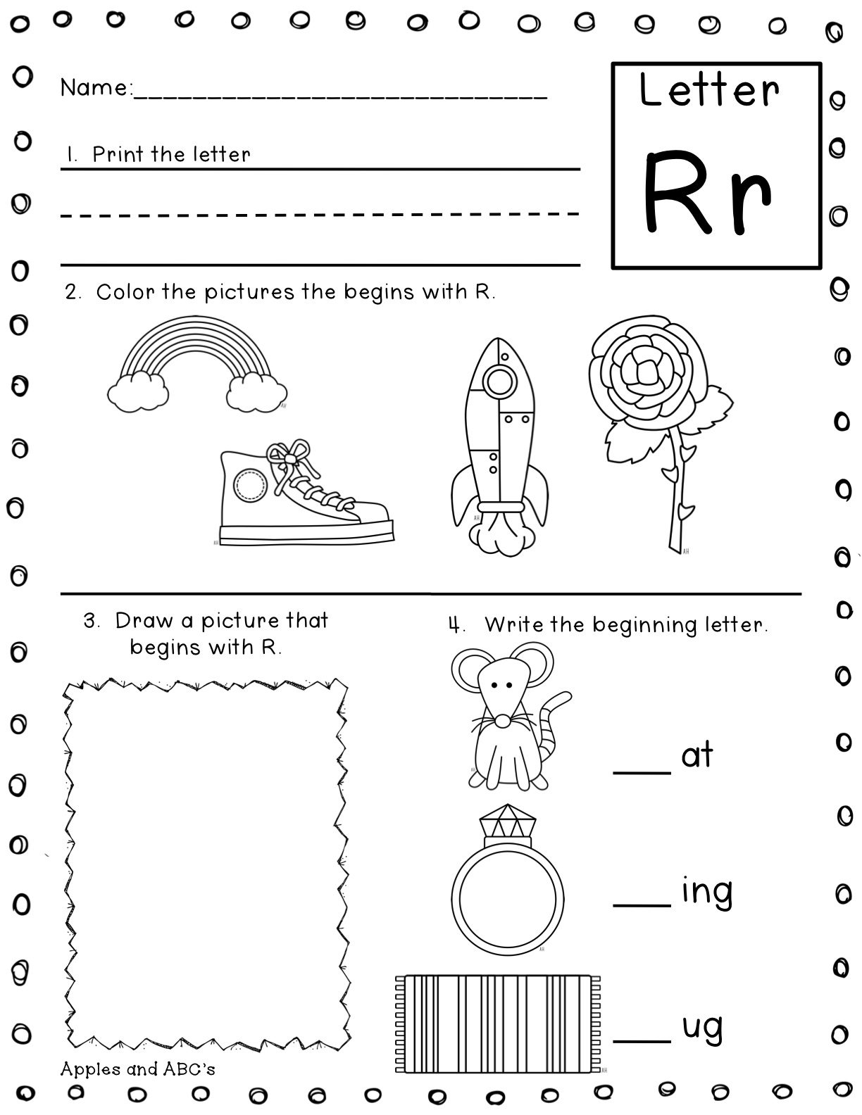 Letter Sound Printables Apples And Abc 39 S