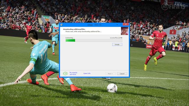 เริ่มติดตั้งเกมส์ FIFA 15