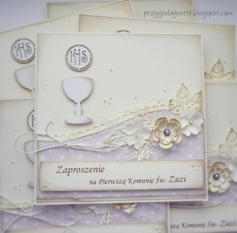 Zaproszenia Na Komunię św Zuzi Przygoda Yvette