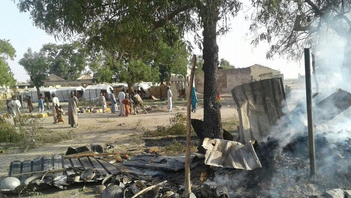 "Graphic: Nigerian military ""accidentally"" bombards refugees' camp in Borno"