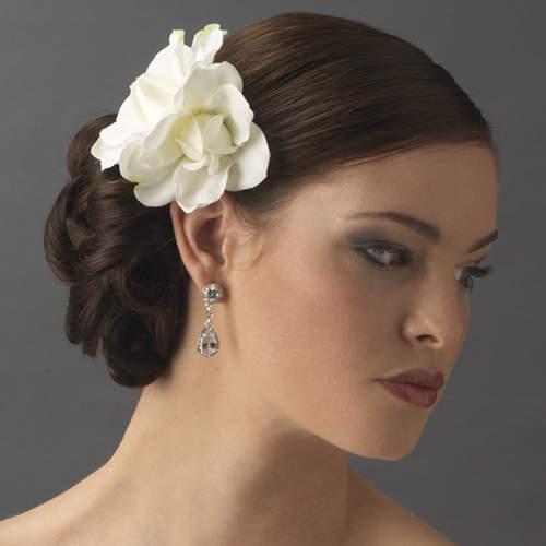 Elegant Wedding Hair Flower Ideas, Creative Wedding Hair ...