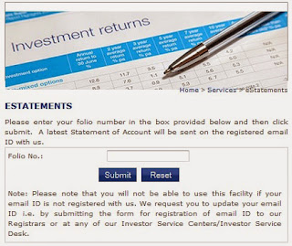 how to get folio number for sbi mf