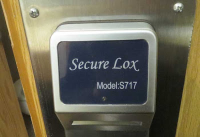 Hotel door lock with name Secure Lox