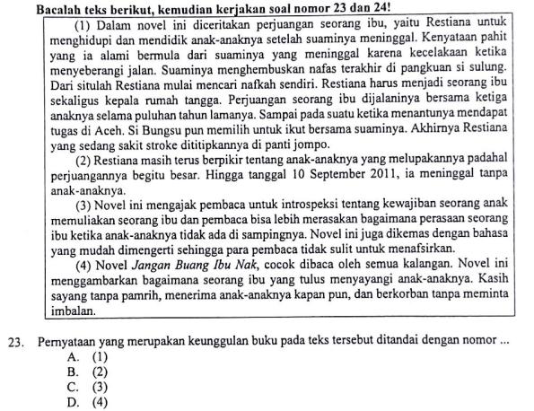 Kalimat Yang Menyatakan Keunggulan Buku Zuhri Indonesia