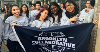 Low Income students marching