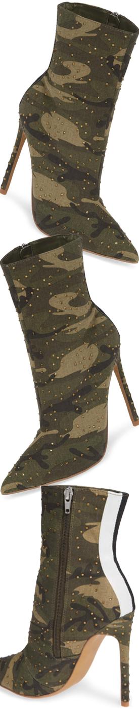 STEVE MADDEN Wagu Bootie shown in Camouflage
