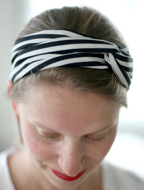 Diy Sewing A Turban Twisted Scarf Say Yes