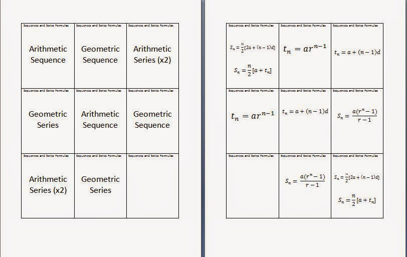 ins'Pi're math: MCR3U Sequences and Series Flashcards