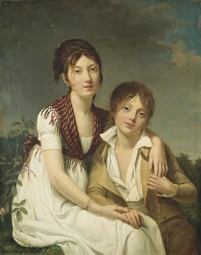 Portrait d'Amélie-Justine et de Charles-Edouard Pontois (1800), Adèle Romany