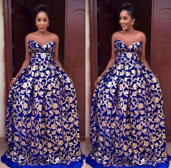 7e70ac1c126 Beautiful Nigerian Ankara Prom Dress For Ladies - Debonke House Of ...