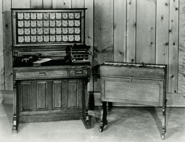 Máquina de Hermann Hollerith, 1890