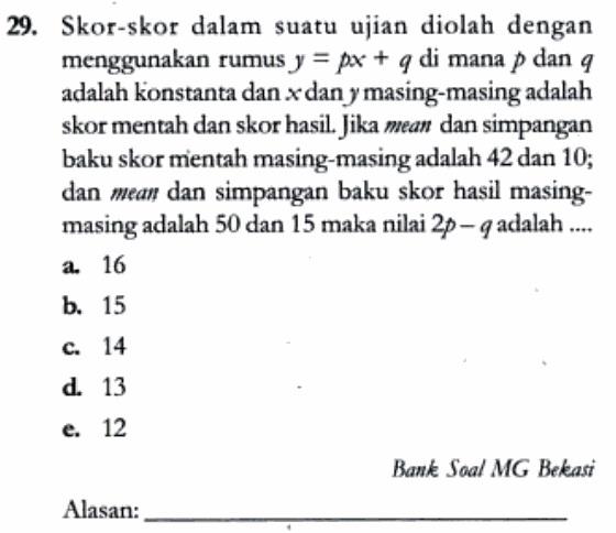 Tes deret angka, tes angka berkolom, tes aritmetika, tes matematika tes ini biasanya berkaitan dengan kombinasi operasi dasar berhitung. 50 Soal Dan Pembahasan Matematika Dasar Sma Statistika Data Tunggal Defantri Com
