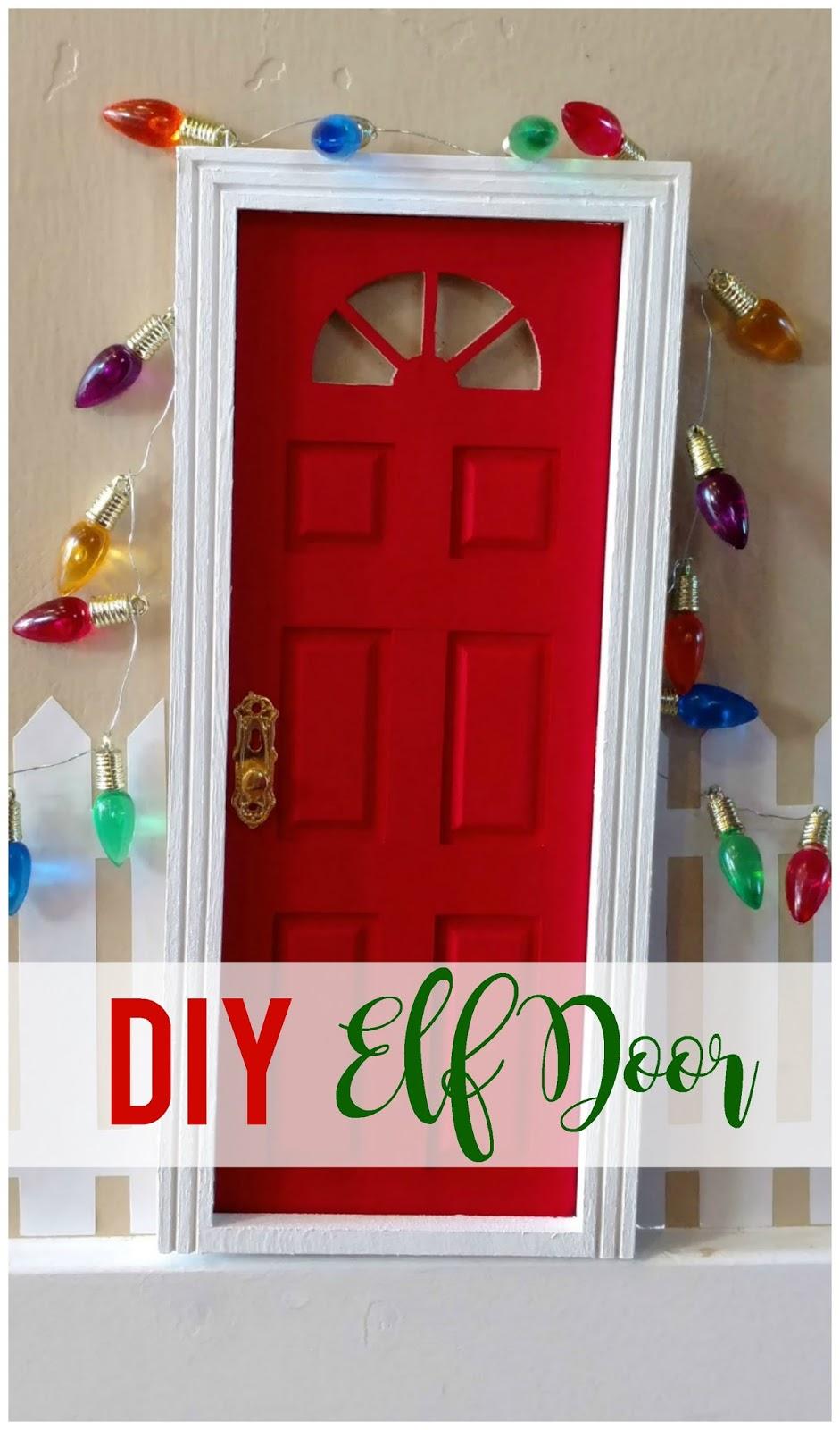Diy elf door sunshine and munchkins for Homemade elf door
