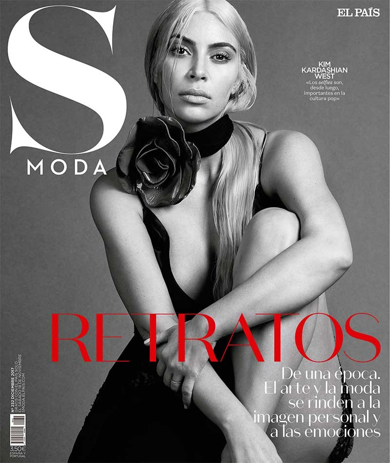 Kim Kardashian on S Moda December 2017 Cover