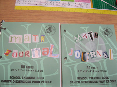 photo of math journals @ Runde's Room