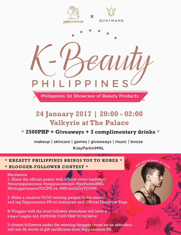 k beauty products, korean skin care products, Yeppunonnie Philippines, Jay Park in Manila, K Beauty Philippines