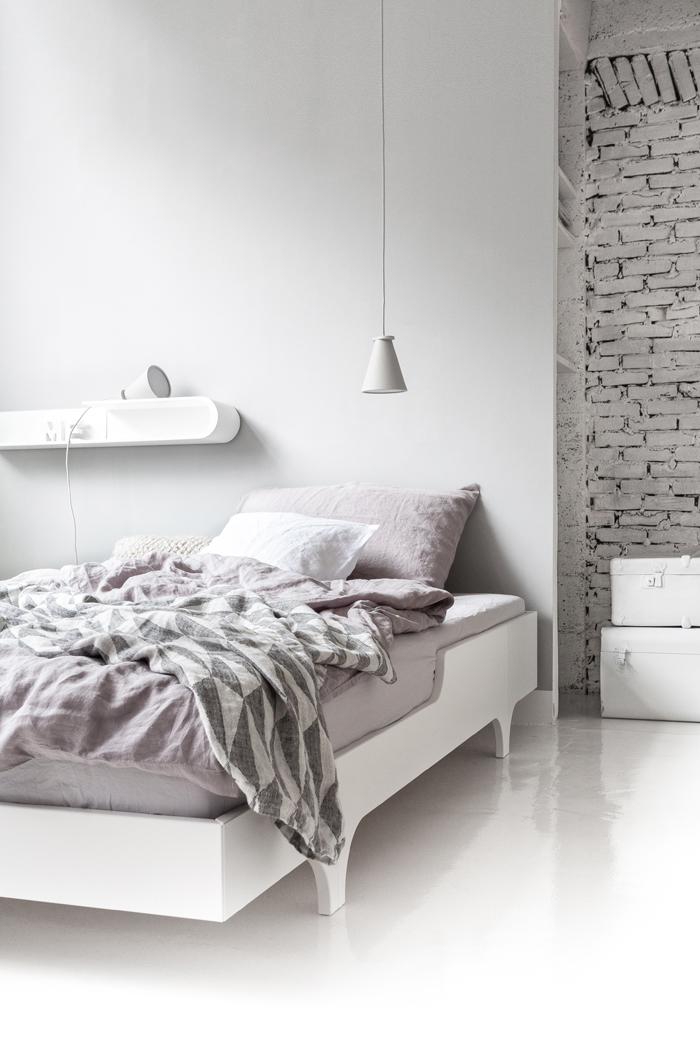 Minimal Bedroom from Rafa-kids - A teen bed, S shelf and B bench.